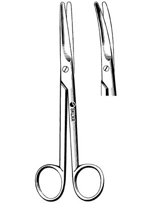 dissecting scissors curved